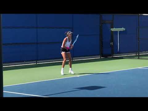 Heather Watson-Garbine Muguruza Practice 7-29-18