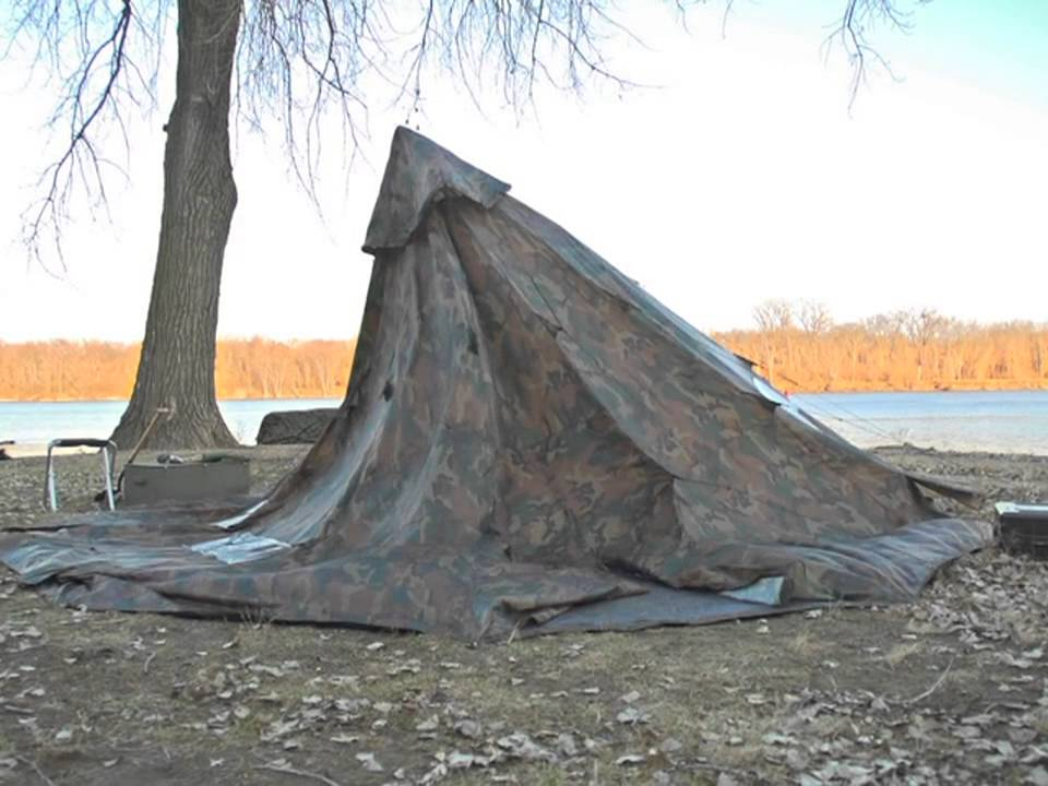 & WD 18x18 Camo Tent - YouTube