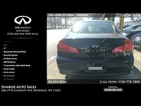 Used 2006 Infiniti G35 Sedan | Sunrise Auto Sales, Rosedale, NY
