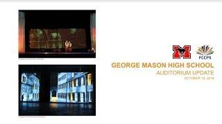 New George Mason High School Auditorium Update