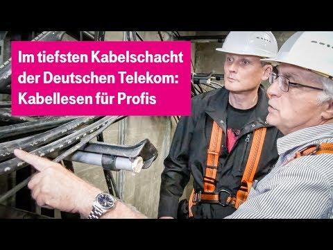 Social Media Post: Führung durch die tiefste Kabelschachtanlage der Telekom - #tnt17