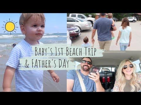 BABY'S FIRST BEACH TRIP    A DAY IN THE LIFE VLOG   BRITTANI BOREN LEACH