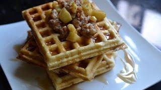 Sausage Apple Hash Stuffed Waffles