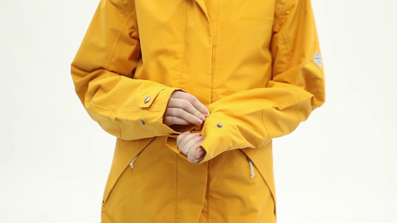 Водонепроницаемая утепленная куртка женская Didriksons Lush - YouTube
