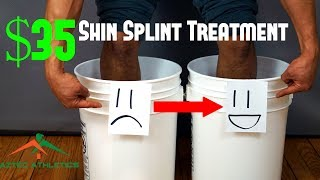 $35 SHIN SPLINT TREATMENT | USING HOT AND COLD THERAPY TO REDUCE SHIN PAIN✔