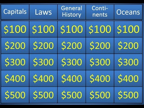 jeopardy powerpoint template - the easiest and best - www, Modern powerpoint