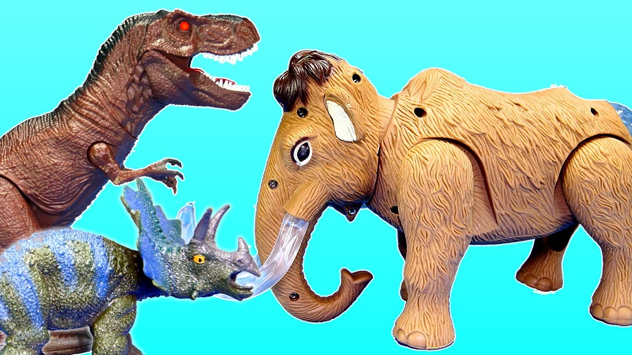 Prehistoric Animals Toys : Walking woolly mammoth light and sound prehistoric animals