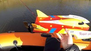 Ловлю рыбу с помощью р/у лодки, Doogee S30, полыхает Wltoys, река Волга и Дубна