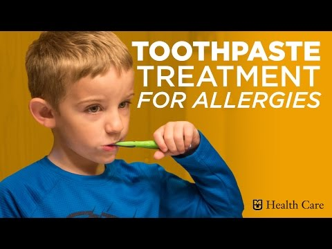 Toothpaste Treatment for Allergies (MU Health Care)