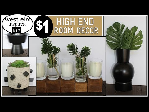 HIGH END DOLLAR TREE DIY | ROOM DECOR Inspired By WEST ELM | Vol. 2