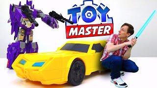Игры #Трансформеры: видео про #игрушки. ✌ Toy Master против десептиконов! Фабрика героев.