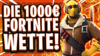 💶🚨THE 1,000€ FORTNITE WETTE! | Is the impossible happening?! Fortnite Solo vs Squad!