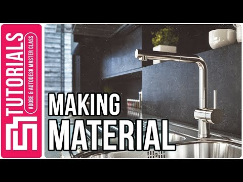 Kitchen Design In 3ds Max Tutorial + Vray + Photoshop Part 3