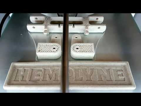 3D printing with 100% Biodegradable Hemp Plastic Filament