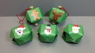 Origami Christmas Balloon Ornament For The Holidays