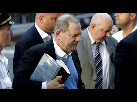 Harvey Weinstein arrives at police station to face sex assault charges | ITV News