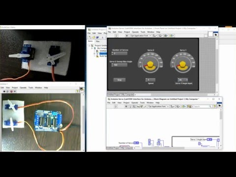 LabVIEW + ARDUINO = Installing LabVIEW Interface For Arduino (LIFA) + Example (servo Control)