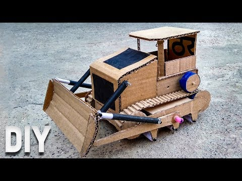 Cool Crawler JCB/Tractor/Bulldozer from cardboard (Very Easy) | The DIY Channel