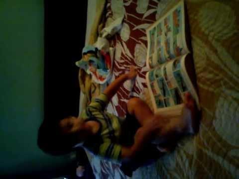 Ruhan reading Tintin Comics