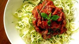Zucchini Pasta and Raw Marinara Sauce Recipe