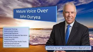 Mature Voice Over John Duryea