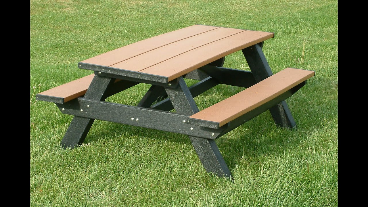 Standard 6ft picnic table youtube - Table a picnic a vendre ...