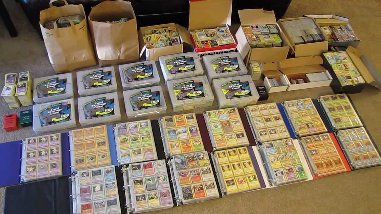 my pokemon card collection 50000 cards youtube - Where Can I Sell My Pokemon Cards In Person