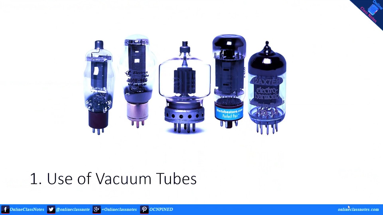 1st generation vacuum tubes