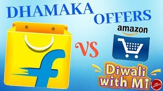 FLIPKART FESTIVE DHAMAKA SALE,AMAZON GREAT INDIAN FESTIVAL,& MI DIWALI SALE: OFFERS & DEALS inside..