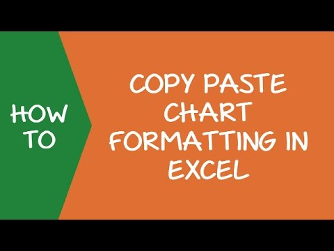 How To Copy Chartgraph Format In Excel Youtube