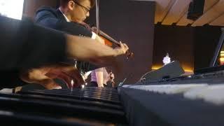 Solitary Hill , Brain Crain . Piano & Violin Duet in wedding gig