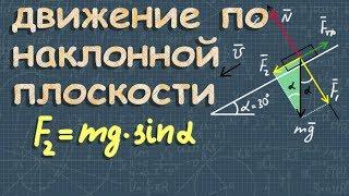ДВИЖЕНИЕ ПО НАКЛОННОЙ ПЛОСКОСТИ механика 10 класс