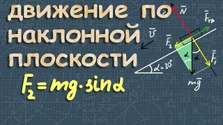 Движение по наклонной плоскости ➽ Физика 10 класс ➽ Видеоурок