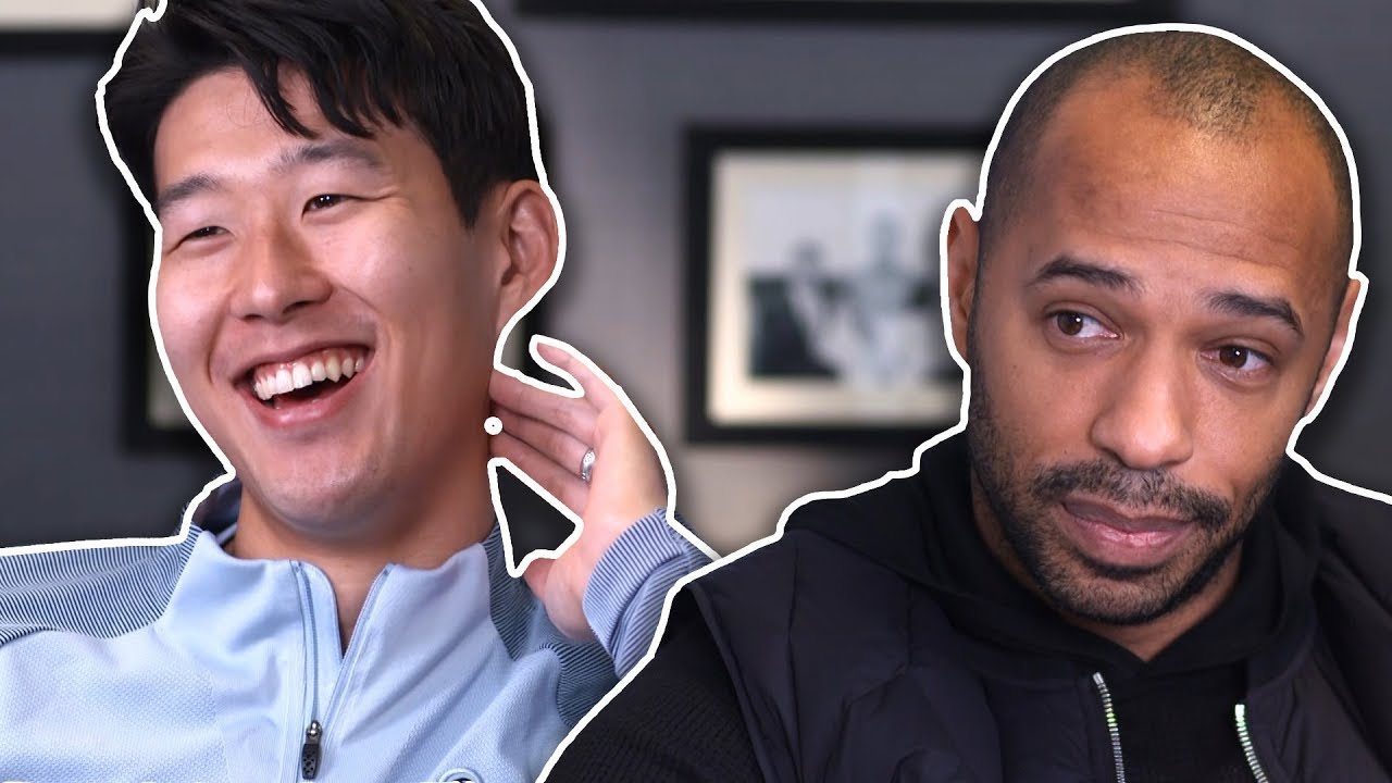 Why is son always smiling thierry henry meets heung min for Son heung min squadre attuali