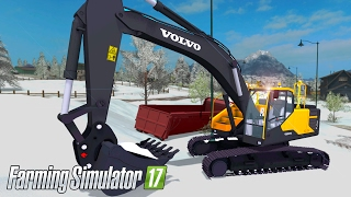 "[""Farming Simulator 17"", ""farming simulator 2017"", ""fs17"", ""mod"", ""excavator"", ""digger"", ""volvo"", ""volvo ec 300e"", ""volvo ec"", ""ITRunner"", ""snow map"", ""winter"", ""gameplay"", ""let's play"", ""catepillar""]"