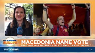 Macedonia name referendum fails to reach the turnout threshold