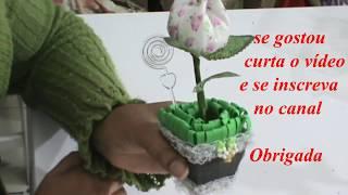 Lembrancinhas – Vasinho com tulipa