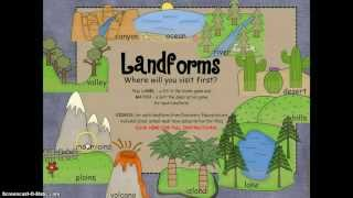 Repeat youtube video Landforms for Smartboard with Discovery Education Links PREVIEW