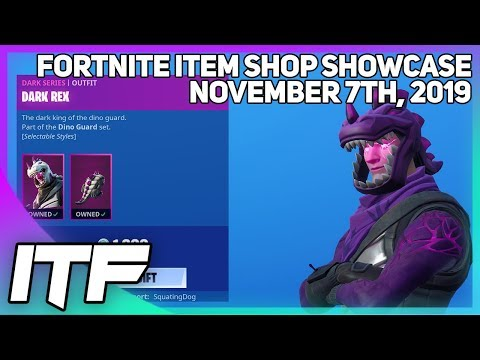 Fortnite Item Shop *NEW* DARK DINOSAUR SKINS! [November 7th, 2019] (Fortnite Battle Royale)