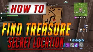 Fortnite SECRET TREASURE Location - Treasure Map Guide Challenge - Free V-Bucks