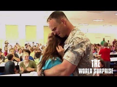 Pulaski County Marine Surprises his Children at School