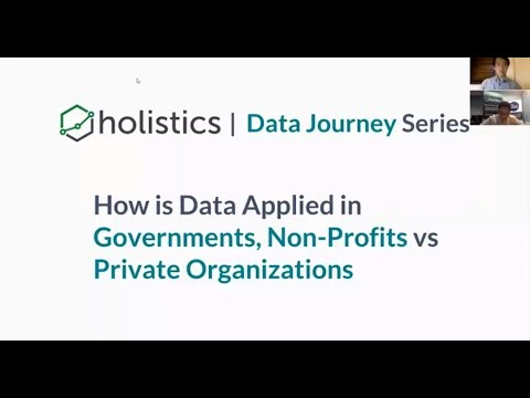 Holistics Data Journeys - Webinar #1 NGO, Gov. vs. Private Sector Data Uses