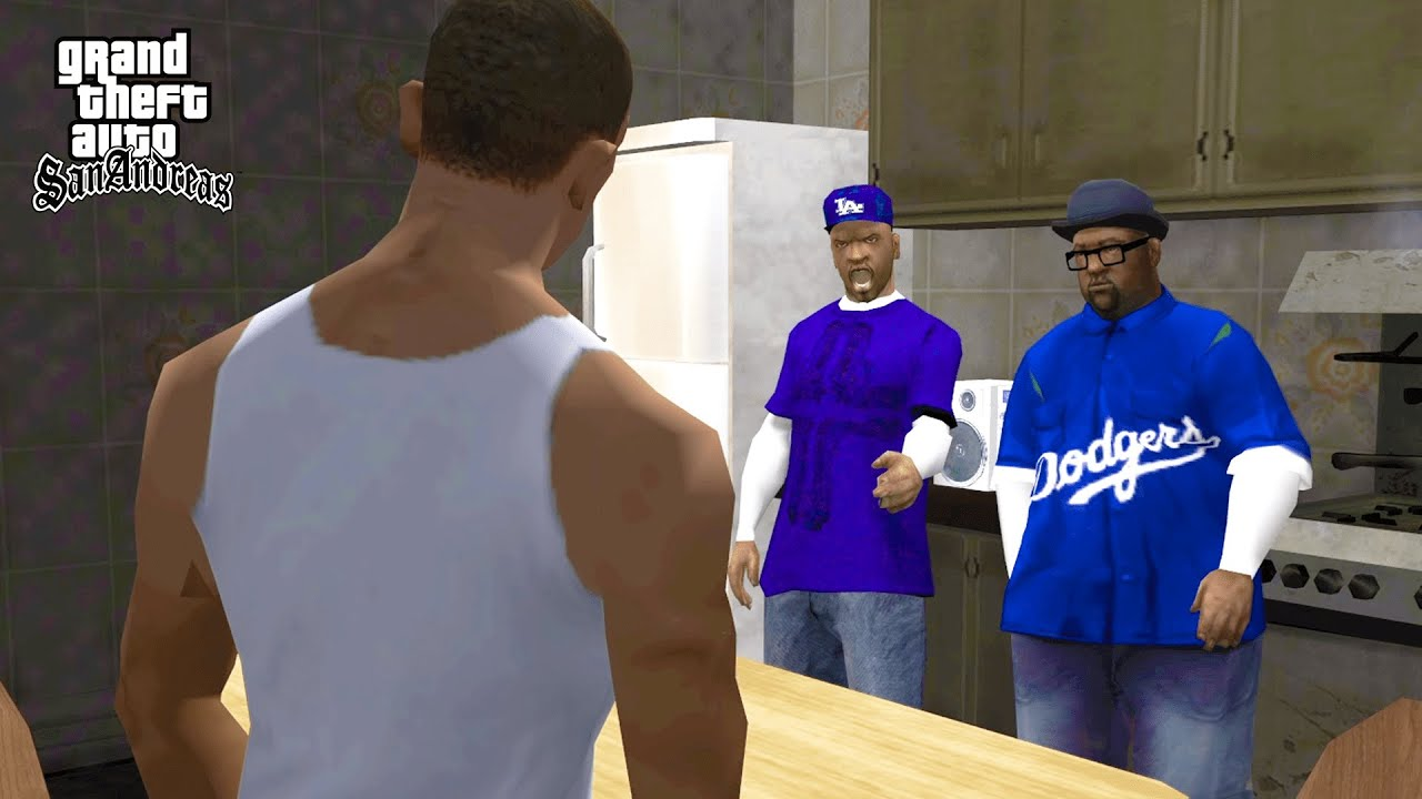 Crips vs Bloods Cleaning The Hood Mission in GTA San Andreas (Real Gangs)