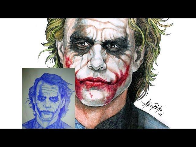 رسم الجوكر بالقلم الجاف Drawing Joker By Pen Youtube