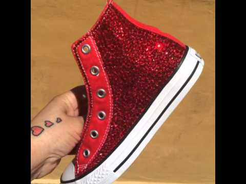 7199ff0760a3 Blinged out Converse Chucks - YouTube