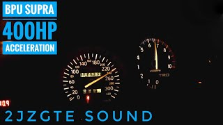 Acceleration from 80-250 km/h (50-155 mph) of my 1996 JDM Supra TT ...