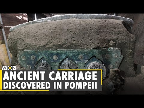 Archaeologists uncover ancient ceremonial carriage near Pompeii | World | WION News