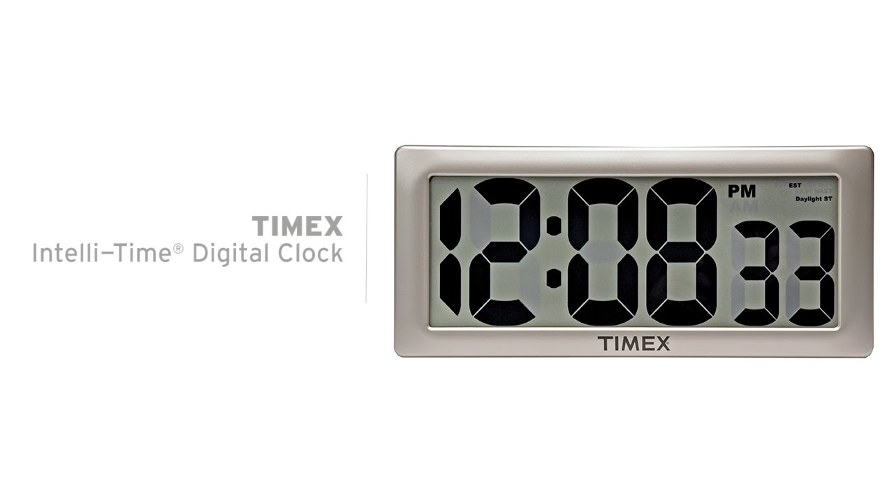 Timex 135 intelli time digital clock 75071t youtube amipublicfo Images