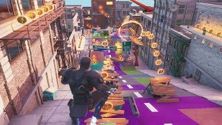 Fortnite Downtown Drop Gameplay - *NEW* Subway Surfers Type Game Mode