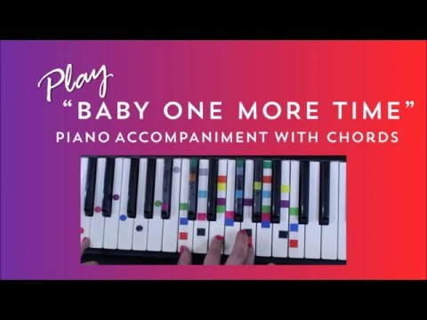 How to Play Sing Baby One More Time - Britney Spears | Easy Piano Chord Lesson | IVOREEZ
